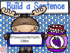 My Ks have gained such confidence using these Build a Sentence packs.  They go crazy building sentences about one of their favorite stories!Included:*sentence building cards*printable moose lined paper*printable cut and past build a sentence worksheets