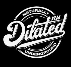 Dilated Nu Tees by Yosuke Ando, via Behance Tattoo Lettering Fonts, Lettering Styles, Typography Letters, Lettering Design, Badge Logo, Retro Logos, Badge Design, Custom Fonts, Best Logo Design