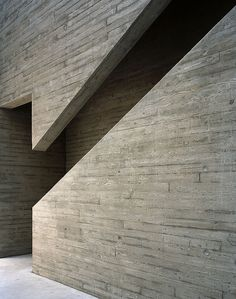 Timber textured concrete // Oriel Mostyn Gallery