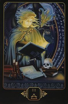"""Three of Air aka 3 of Swords from Dreams of Gaia Tarot by Ravynne Phelan """"Comprehension is the ability to understand the lessons we have learned"""" Gaia, Lotus, Tarot Cards For Beginners, Tarot Astrology, Astrology Signs, Oracle Tarot, Beautiful Fantasy Art, Beautiful Artwork, Deck Of Cards"""