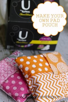 Tutorial on how to sew these cute Sanitary Pad Pouches for your daughters to carry in their purses or backpacks. From Tips From a Typical Mom.