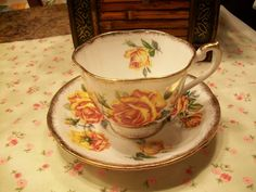 Yellow Rose Tea Cup and Saucer by THEPARISBOUTIQUE on Etsy, $20.00