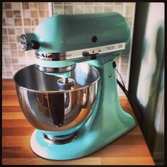 Photo Ice Blue Kitchenaid Mixer | ... Collection, An Ice Blue KitchenAid  Mixer