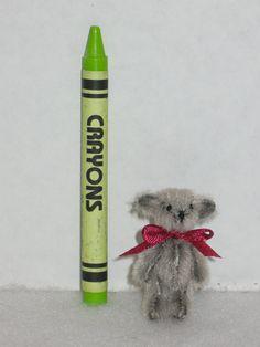 Tiny 1.5 Artist Teddy Bear Handmade Soft by MirageRiverCreations