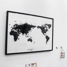 Black and White World Map Simple is the Best Draw your Dreams around the World by verryberrysticker on Etsy https://www.etsy.com/listing/182617746/black-and-white-world-map-simple-is-the