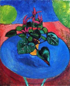 Cyclamen Pourpre, 1911-1912 Henri Matisse. There is something about the colors Matisse uses - they call to me - they say, rejoice.