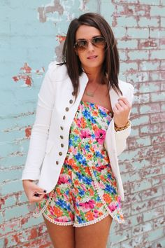 Knock Out Blazer {White} from The Rage