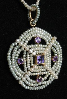 Seed Pearl & Amethyst Necklace