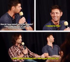 J2 Panel Dallas Con 2012 ''How do I keep myself out of the tabloids?'' #DallasCon2012