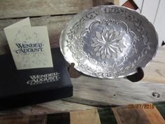 Beautiful Vintage Wendell August Hand Hammered Forged Aluminum Poinsettia Dish Bowl New in Box Holiday Rhapsody by EvenTheKitchenSinkOH on Etsy