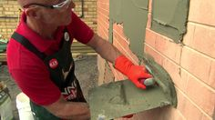 Watch this video from Bunnings to find out how to render a brick wall Rendering Walls, Rendered Houses, Cement Render, Brick Wall Decor, Moroccan Garden, Porch Storage, Brick Garden, Boundary Walls, Brick Facade