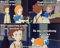 Tagalog Quotes Hugot Funny, Memes Tagalog, Pinoy Quotes, Tagalog Love Quotes, Pick Up Lines Cheesy, Cartoon Quotes, Poetry, Family Guy, Couple