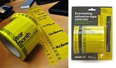 Everlasting Calendar Tape. Fun calendar idea!