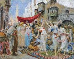 Fabio Fabbi (italian, 1861 - 1910) - The slave market - by Sotheby's