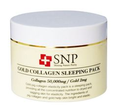 [SNP] Gold Collagen Sleeping Pack (100g, 3.52 oz) Containing 24K gold #SNP