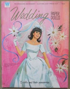 Wedding paper dolls I actually had this exact one.