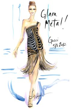 Rock The Runway - Fall & Spring 2012 Illustration by Jennifer Lilya