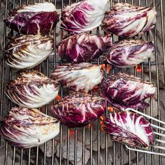 Grilled Radicchio | America's Test Kitchen Caramel Chocolate Bar, Caramel Tart, Veggie Side Dishes, Side Dish Recipes, Vegetable Dishes, Dinner Recipes, Cooks Illustrated Recipes, Donut Toppings, Frozen Cherries