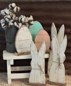 Rustic Wood Rabbit Set of 3 or Single, Rustic Easter Decor, Rustic Farmhouse Table Decor, Rustic Holiday Decor, Farmhouse Holiday Decor Rustic Wood Rabbit Set of 3 Rustic Easter Decoration Rustic Easter Art, Easter Crafts, Easter Food, Easter Dinner, Easter Brunch, Easter Décor, Happy Easter, Rustic Farmhouse Table, Rustic Wood