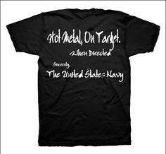 Hot Metal On Target When Directed Naval Tee $19.95 Target, Navy Shirts, Tees, Metal, Hot, Mens Tops, T Shirt, Supreme T Shirt, T Shirts