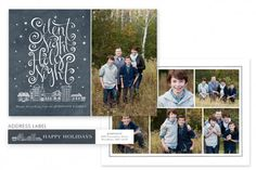 Cityscape Holiday Card Template by Jamie Schultz Designs