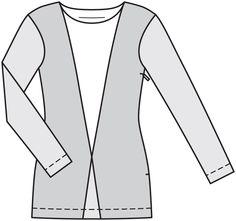 Пуловер - выкройка № 4 D из журнала 2/2014 Burda. Шить легко и быстро – выкройки пуловеров на Burdastyle.ru
