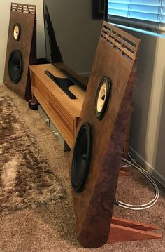 One of more than 300 projects we show, that were created by our customers with our Audio Nirvana full-range speakers--the world's best sound! pairs sold with money back guarantee. In 15 years we've had only 7 returns. Audiophile Speakers, Speaker Amplifier, Hifi Audio, Wireless Speakers, Open Baffle Speakers, Wooden Speakers, Acoustic Design, Audio Design, Speaker Kits