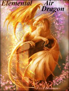 The Element of Air governs the Eastern quarter of the circle. It's Dragon Ruler is Sairys (Sair'-iss) who oversees the Dragons of the Wind & Breezes. Fantasy Dragon, Dragon Art, Magical Creatures, Fantasy Creatures, Mythological Creatures, High Fantasy, Fantasy Art, Fantasy Drawings, Wiccan