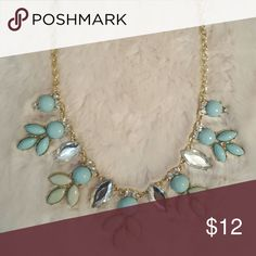 Statement Gem Necklace This lovely necklace can be dressed up or down for every occasion! It's the perfect addition to any outfit!  I've only worn this a couple of times & everyone always seems to love it! :) No visual wear or flaws. definitely a statement piece! Jewelry Necklaces