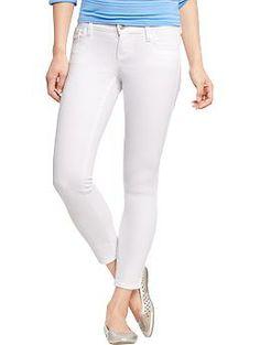 white denim cropped jeans - Jean Yu Beauty