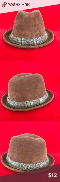 7fa98164aaada Men s Brixton Brown Cordouroy Fedora Size S M Pre-owned