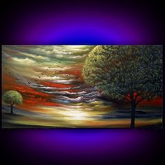 art ORIGINAL painting abstract large art landscape by mattsart