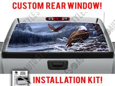 USA New York City Pick-Up Truck Perforated Rear Window Wrap