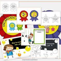 Recursos para el aula: Carteles de encargado de la clase