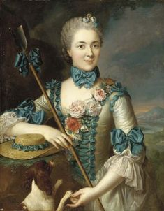 Portrait of a Lady, said to be Madame Louise Suzanne Edmée Martel as a Shepherdess