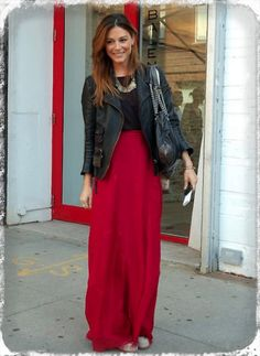 casual travel outfit, red and black outfit