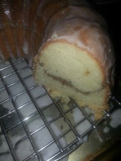 Sock-it-to-me Cake. Homemade, from scratch, mixed by hand. Next time I will make two.