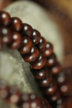 108 Mala Beads Rustic Brown Wood Beads 8mm by BlackMountainRainbow