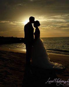 Jamaican sunset wedding photography