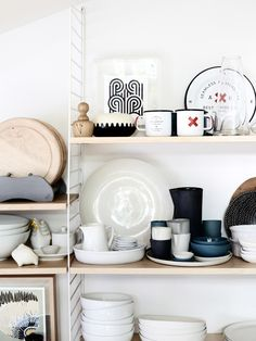 kitchen shelves in the home of Amber and Ben Clohesy from The Design Files