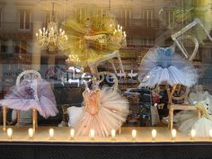 Repetto window. I love these windows. Pretty french style costumes.