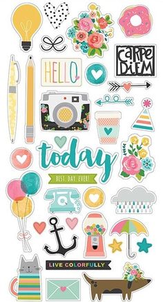 Shop the largest selection of scrapbooking supplies in the world. Get scrapbook paper, die cut machines, dies, stickers stamps and more. Journal Stickers, Scrapbook Stickers, Planner Stickers, Scrapbook Paper, Scrapbook Titles, Stickers Kawaii, Cute Stickers, Simple Stories, Printable Stickers