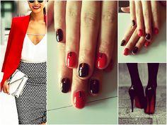 Red/black classic ♥ #ibd just gel polish #blacklava #luckyred