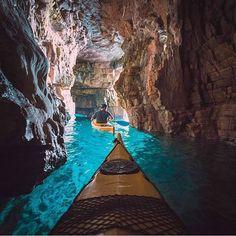 Exploring the Adriatic Sea by kayak #Croatia Photo: @jordanherschel #wildernessculture