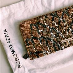 HP🎉 Sequin Clutch BCBG MaxAzria Clutch. Never used, in perfect condition, comes with dust bag. BCBGMaxAzria Bags Clutches & Wristlets