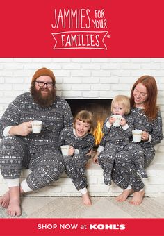 "Nothing says ""photo op"" like matching Jammies For Your Families®! Karla Davis and her family love to snuggle up and get cozy every holiday season, and snap a few cute pics while they're at it! Shop Kohl's today and find a set for the whole family. Matching Christmas Pajamas, Matching Family Pajamas, Christmas Pyjamas, Fun Family Photos, Family Picture Outfits, Swedish Christmas, Family Christmas, Christmas Minis, Baby Bug"