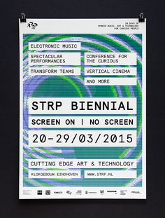 Raw Color – Dynamic identity for STRP Biennial, 2015