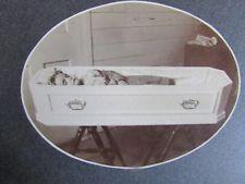 1902 three year old's post mortem casket CDV name & dates on back