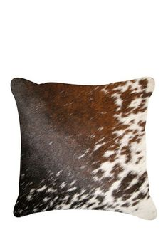 Torino Cowhide Pillow by Kinetic on @HauteLook It's the redneck in me. I just love cowhide