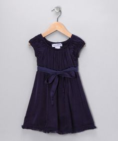 Take a look at this Indigo Bow Dress - Toddler & Girls by Out of Control on #zulily today!#fall